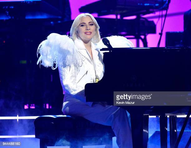 Recording artist Lady Gaga performs onstage during 60th Annual GRAMMY Awards I'm Still Standing A GRAMMY Salute To Elton John at the Theater at...