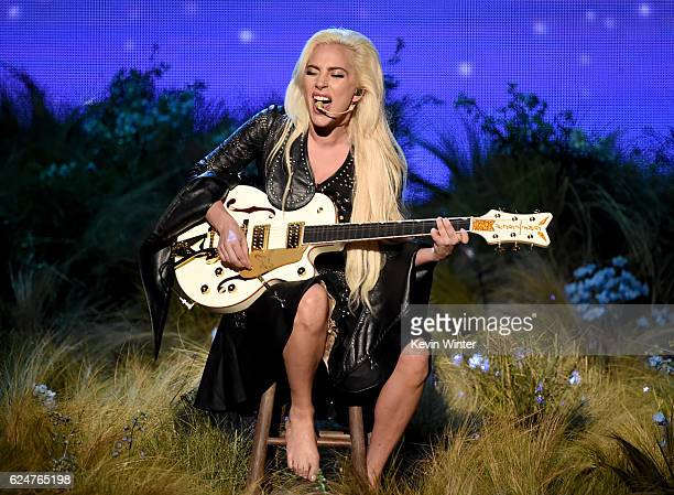 Recording artist Lady Gaga performs onstage during the 2016 American Music Awards at Microsoft Theater on November 20 2016 in Los Angeles California