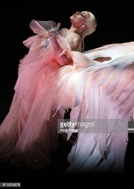 Recording artist Lady Gaga performs onstage during the 60th Annual GRAMMY Awards at Madison Square Garden on January 28 2018 in New York City