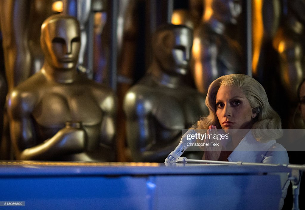 Recording artist Lady Gaga performs onstage the 88th Annual Academy Awards at Dolby Theatre on February 28, 2016 in Hollywood, California.