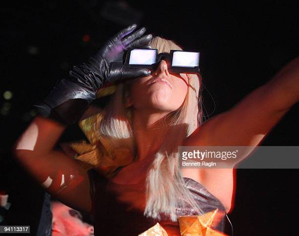 Recording artist Lady Gaga the 2009 New Years Eve Ball at Webster Hall on December 31 2008 in New York City