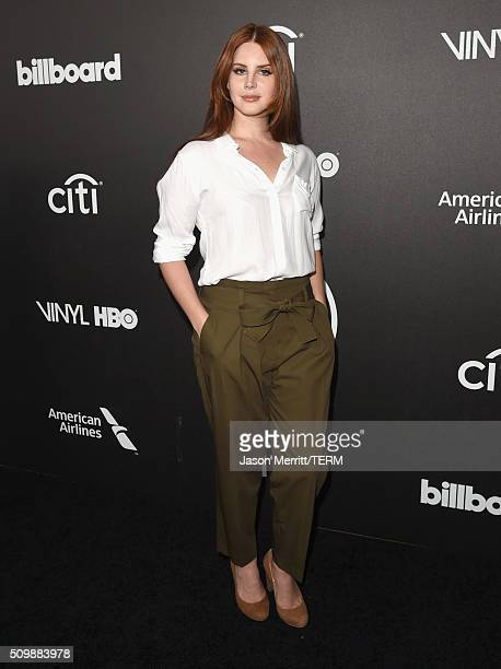 Recording artist Lana Del Rey attends 2016 Billboard Power 100 Celebration at Bouchon Beverly Hills on February 12 2016 in Beverly Hills California