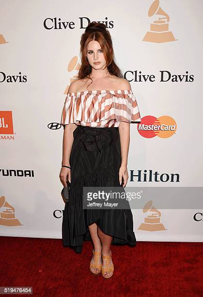 Recording artist Lana Del Rey attends the 2016 PreGRAMMY Gala and Salute to Industry Icons honoring Irving Azoff at The Beverly Hilton Hotel on...