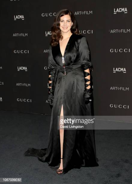 Recording artist Lana Del Rey wearing Gucci attends 2018 LACMA Art Film Gala honoring Catherine Opie and Guillermo del Toro presented by Gucci at...