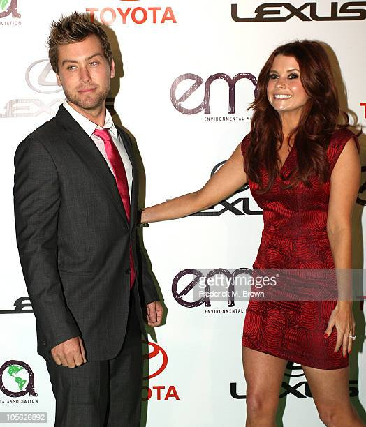 Recording artist Lance Bass actress Joanna Garcia attend the 20th annual Enviornmental Media Association Awards at Warner Brothers Studios on October...