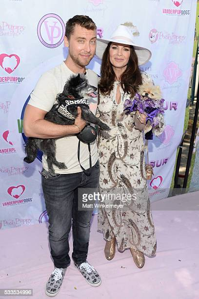 Recording artist Lance Bass and TV personality Lisa Vanderpump attend the World Dog Day Celebration at The City of West Hollywood Park on May 22,...
