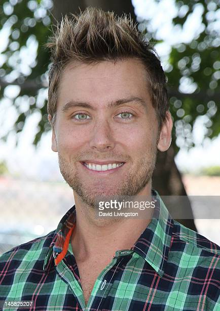 Recording artist Lance Bass attends the Environmental Media Association's 3rd Annual Garden Luncheon at Carson Senior High School on June 6 2012 in...