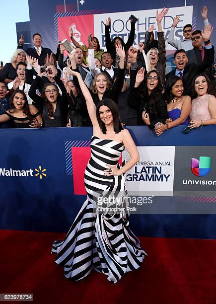 Recording artist Laura Pausini attends The 17th Annual Latin Grammy Awards at TMobile Arena on November 17 2016 in Las Vegas Nevada