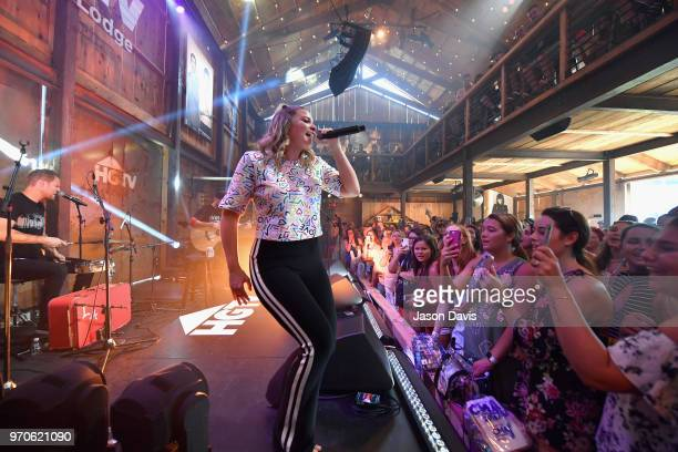 Recording artist Lauren Alaina performs onstage in the HGTV Lodge at CMA Music Fest on June 9 2018 in Nashville Tennessee