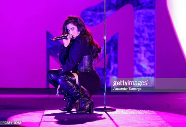 Recording artist Lauren Jauregui performs live at the MTV 1 The Vote 'Election Afterparty' on November 6 2018 in Miami Florida