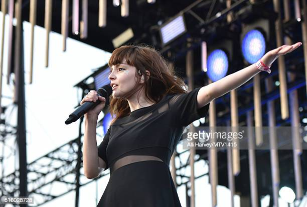 Recording artist Lauren Mayberry of Chvrches performs onstage during the 2016 MTV Woodies/10 For 16 on March 16 2016 in Austin Texas