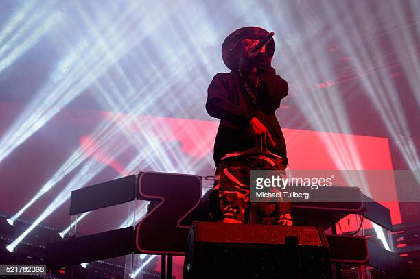 Recording artist Layzie Bone of Bone ThugsNHarmony performs onstage with Zhu during day 2 of the 2016 Coachella Valley Music Arts Festival Weekend 1...