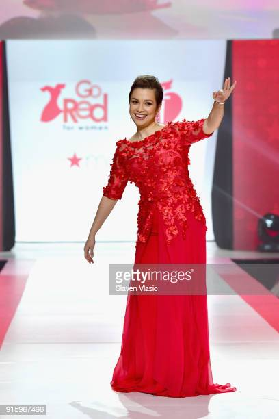 Recording artist Lea Salonga walks the runway during the American Heart Association's Go Red For Women Red Dress Collection 2018 presented by Macy's...