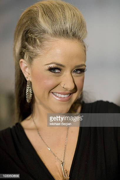 Recording artist Leah Turner arrives at the 4th Annual Gridlock 2010 New Year's Eve Bash at Paramount Studios on December 31 2009 in Hollywood...