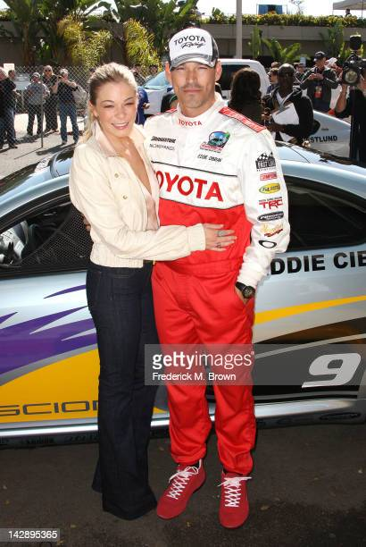 Recording artist LeAnn Rimes and Eddie Cibrian attend the 36th Annual Toyota Pro/Celebrity Race at the Long Beach Grand Prix on April 14 2012 in Long...