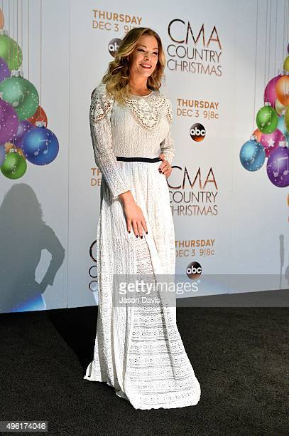 Recording Artist LeAnn Rimes attends the CMA 2015 Country Christmas press room on November 7 2015 in Nashville Tennessee