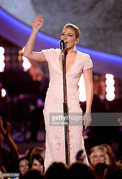 Recording artist LeAnn Rimes performs onstage during the American Country Awards 2013 at the Mandalay Bay Events Center on December 10, 2013 in Las...