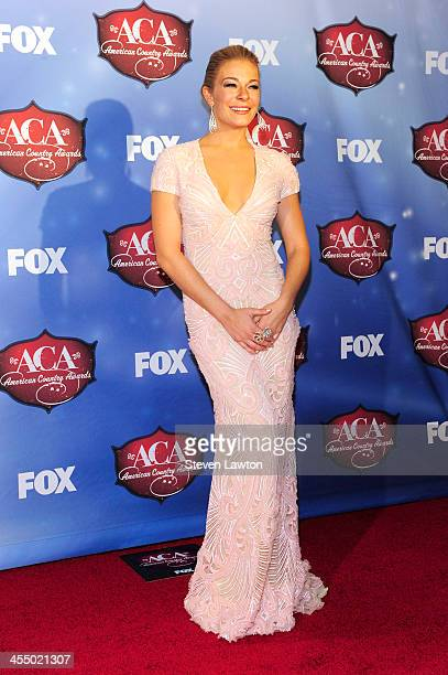 Recording artist LeAnn Rimes poses in th press room during the American Country Awards 2013 at the Mandalay Bay Events Center on December 10, 2013 in...