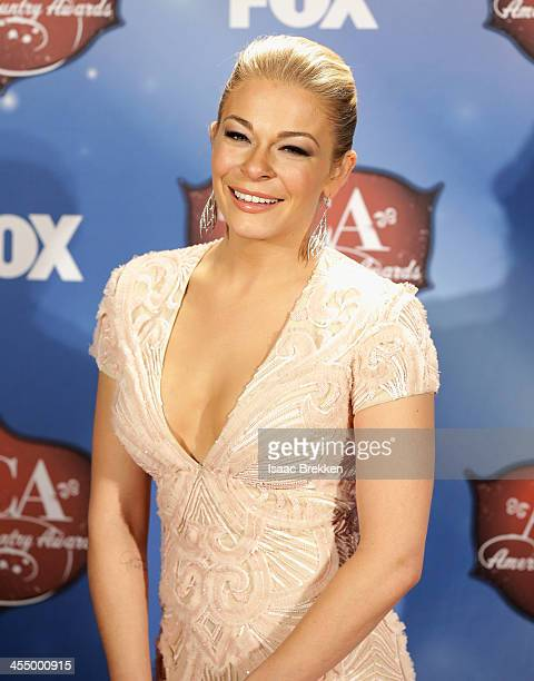 Recording artist LeAnn Rimes poses in the press room during the American Country Awards 2013 at the Mandalay Bay Events Center on December 10 2013 in...