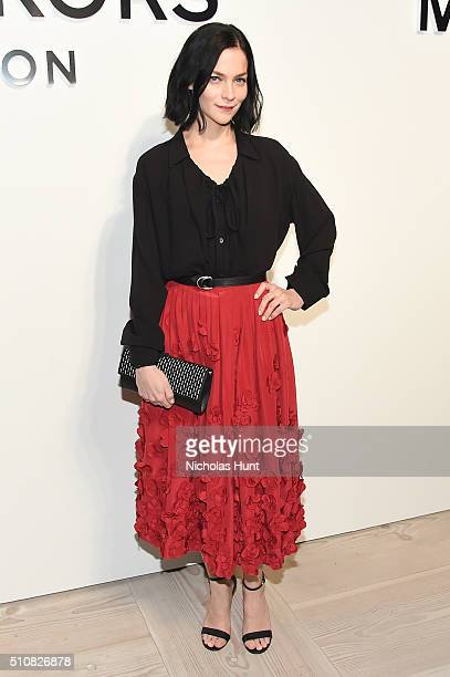 Recording artist Leigh Lezark poses backstage at the Michael Kors Fall 2016 Runway Show during New York Fashion Week The Shows at Spring Studios on...