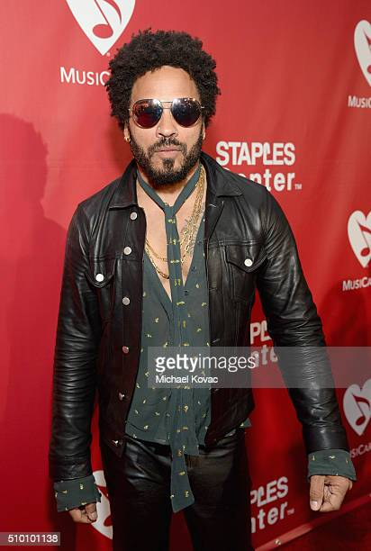 Recording artist Lenny Kravitz attends the 2016 MusiCares Person of the Year honoring Lionel Richie at the Los Angeles Convention Center on February...