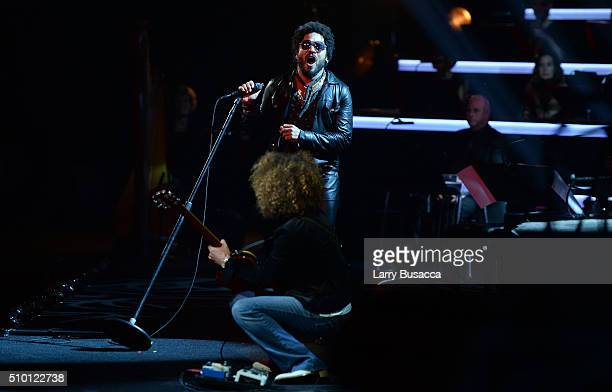 Recording artist Lenny Kravitz performs onstage during the 2016 MusiCares Person of the Year honoring Lionel Richie at the Los Angeles Convention...