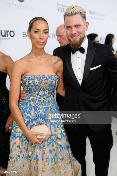Recording artist Leona Lewis attends the 25th Annual Elton John AIDS Foundation's Academy Awards Viewing Party at The City of West Hollywood Park on...