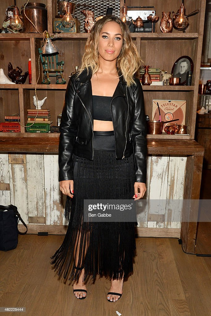 Recording artist Leona Lewis attends the Leona Lewis 'I Am...' Album Listening Party at Elyx House on July 28, 2015 in New York City.