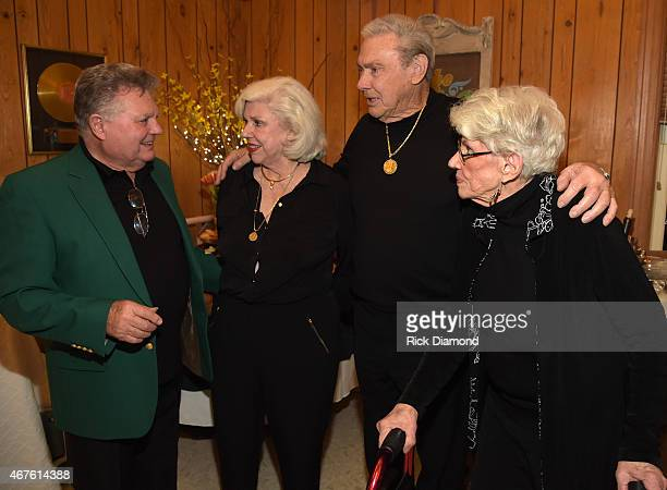 Recording Artist Leroy Van Dyke Country Music Hall of Fame Inductees Bonnie Brown Jim Ed Brown and Maxine Brown attend Country Music Hall of Fame...