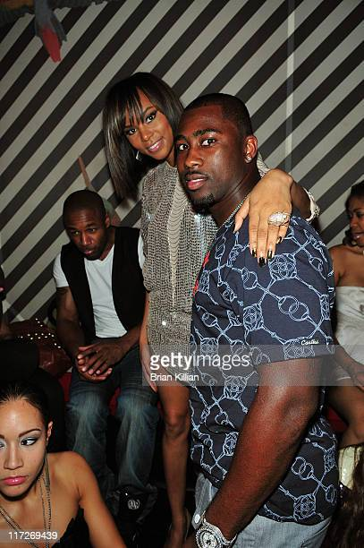 Recording artist LeToya Luckett and New York Jets cornerback Darrelle Revis attend LeToya's Lady Love album release party at Cain on August 27, 2009...