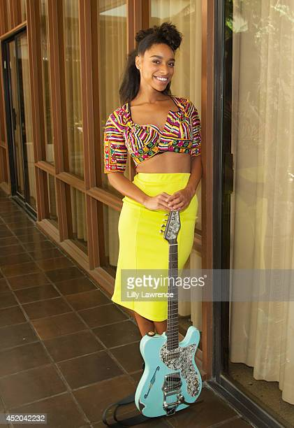 Recording artist Lianne La Havas poses for a portrait at Warner Bros Records Summer Sessions at Warner Bros Records Boutique store on July 11 2014 in...