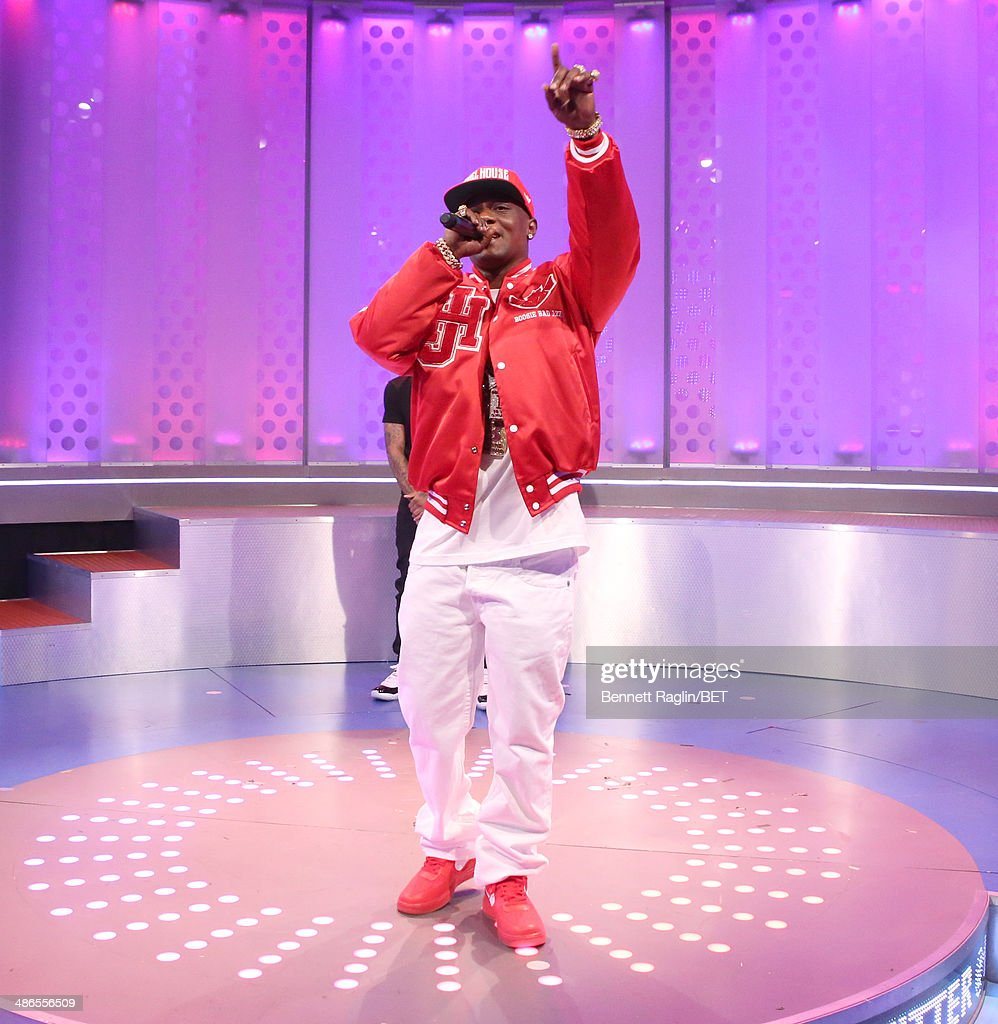 Recording artist Lil Boosie visits 106 & Park at BET studio on April 24, 2014 in New York City.