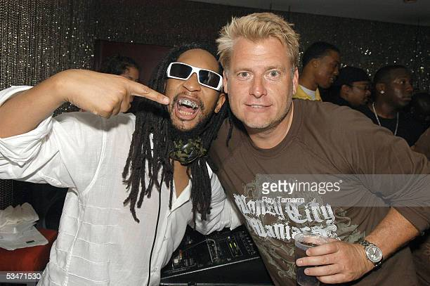 Recording artist Lil' Jon and artist manager Joe Simpson attend Lil' Jons's party at the Shore Club August 26, 2005 in Miami, Florida.