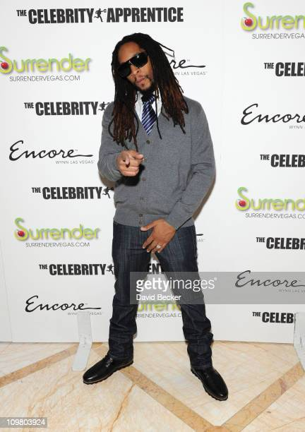 Recording artist Lil' Jon arrives to celebrate the season premiere of 'The Celebrity Apprentice' at Surrender Nightclub at Encore Las Vegas on March...