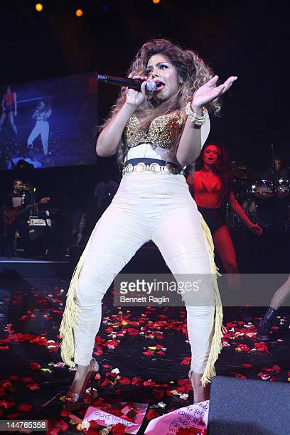 Recording artist Lil' Kim performs at Paradise Theater on May 18 2012 in New York City
