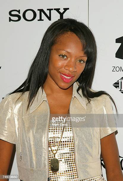 Recording artist Lil' Mama arrives to Zomba Label Group's PreBET Awards Party featuring Ciara held at Ritual Nightclub on June 25 2007 in Hollywood...