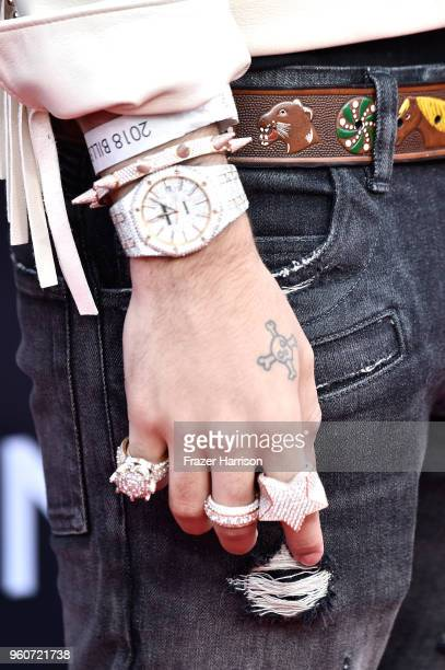 Recording artist Lil Pump fashion detail attends the 2018 Billboard Music Awards at MGM Grand Garden Arena on May 20 2018 in Las Vegas Nevada