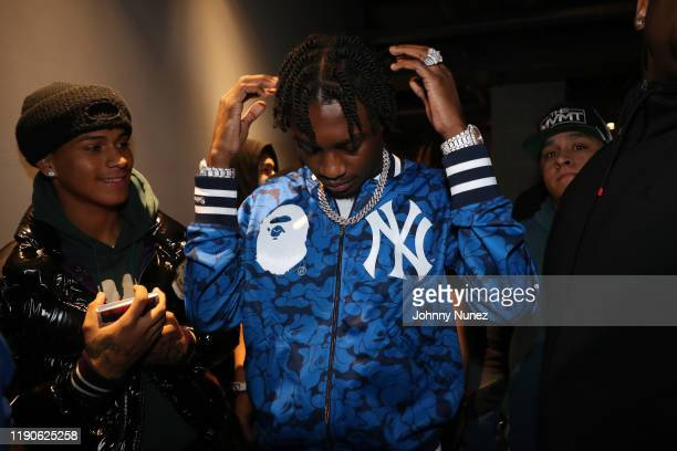 Recording artist Lil Tjay backstage at PlayStation Theater on November 27 2019 in New York City