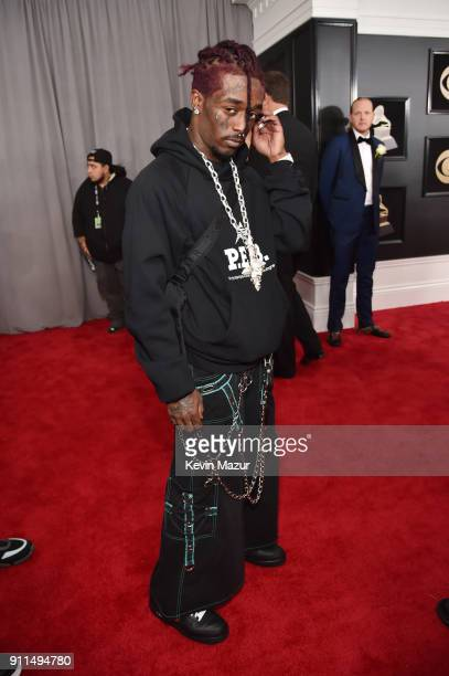 Recording artist Lil Uzi Vert attends the 60th Annual GRAMMY Awards at Madison Square Garden on January 28 2018 in New York City