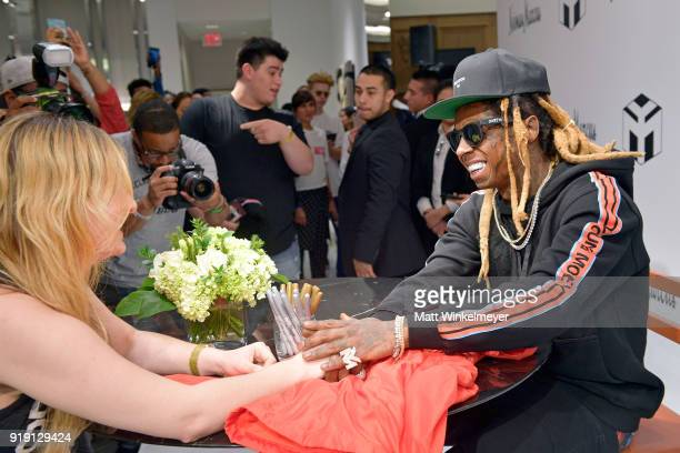 Recording artist Lil Wayne attends Neiman Marcus x Young Money Launch at Neiman Marcus Beverly Hills on February 16 2018 in Beverly Hills California