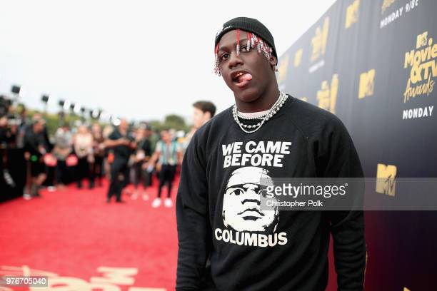 Recording artist Lil Yachty attends the 2018 MTV Movie And TV Awards at Barker Hangar on June 16 2018 in Santa Monica California
