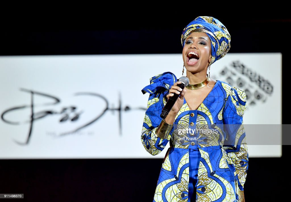 Recording artist Liliana Saumet performs onstage at the premiere ceremony during the 60th Annual GRAMMY Awards at Madison Square Garden on January 28, 2018 in New York City.