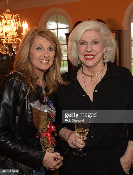 Recording Artist Linda Davis and Country Music Hall of Fame Inductee Bonnie Brown during Country Music Hall of Fame inducees Jim Ed Brown and the...