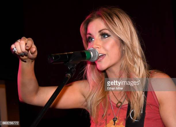 Recording artist Lindsay Ell performs during the ACM After Party For A Cause I Love This Bar Grill at Toby Keith's I Love This Bar Grill inside...