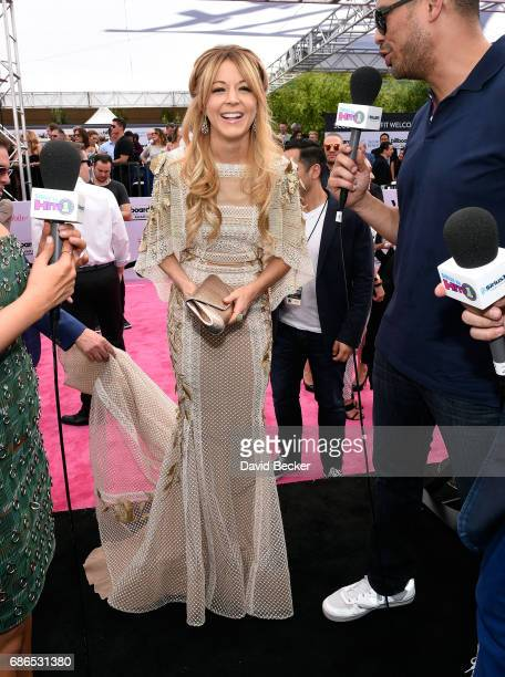 Recording artist Lindsey Stirling is interviewed on SiriusXM's Hits 1 in Hollywood on the red carpet leading up to the Billboard Music Awards at the...