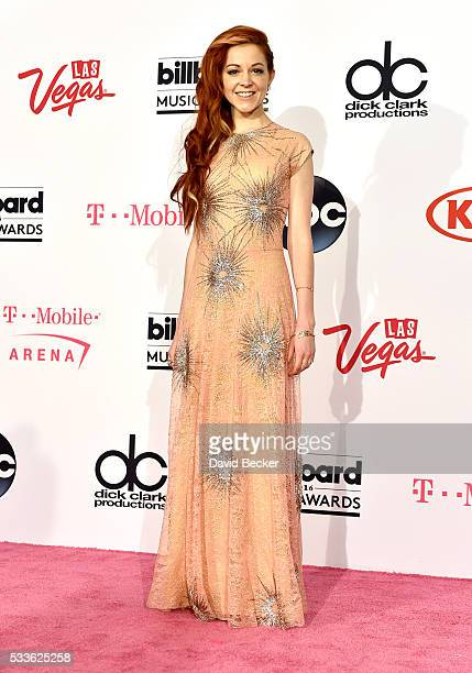 Recording artist Lindsey Stirling poses in the press room during the 2016 Billboard Music Awards at T-Mobile Arena on May 22, 2016 in Las Vegas,...