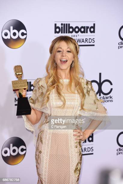 Recording artist Lindsey Stirling winner of Top Dance/Electronic Album award for 'Brave Enough' attends the 2017 Billboard Music Awards at TMobile...