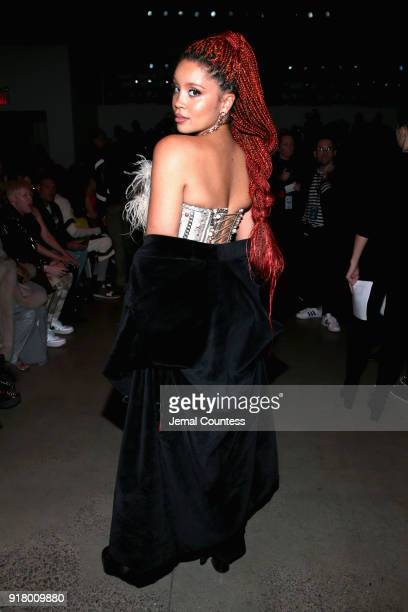 Recording artist Lion Babe attends The Blonds front row during New York Fashion Week The Shows at Gallery I at Spring Studios on February 13 2018 in...