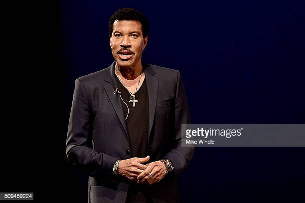 Recording artist Lionel Richie speaks onstage during Arts Ideas An Evening with Lionel Richie at Wallis Annenberg Center for the Performing Arts on...