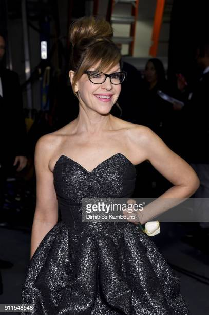 Recording artist Lisa Loeb attends the 60th Annual GRAMMY Awards at Madison Square Garden on January 28 2018 in New York City